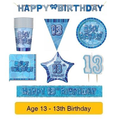 AGE 13 – Happy 13th Birthday – Party Balloons Banners & Decorations – Pink/Girl