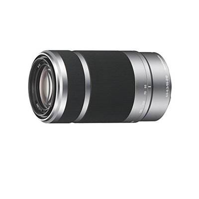 Sony SEL55210 E Mount APS-C 55-210 mm F4.5-6.3 Telephoto Zoom Lens – Silver