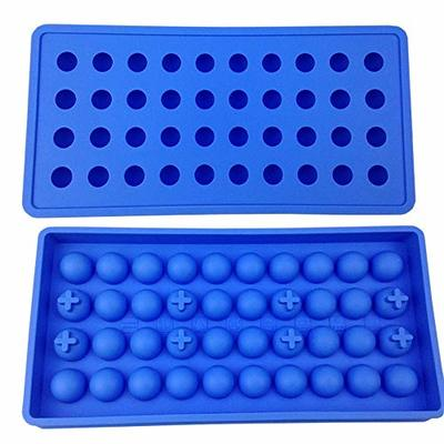 Mydio 40 Tray Mini Ice Ball Molds DIY Molds Tool for Child with Candy pudding jelly milk juice Chocolate mold or Cocktails & whiskey particles(Pale Blue)