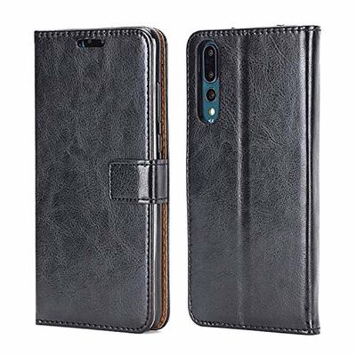 NWNK13 Huawei Y7 2019 Compatible Case Slim Flip Premium Leather Folio Notebook Wallet Case Soft Flexible Gel Frame Holder Kickstand Function Card Holder ID Slot Protective Skin Cover