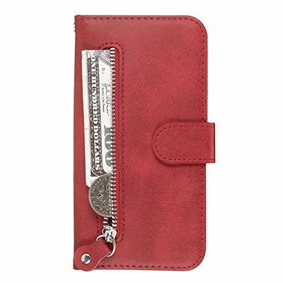 Lomogo iPhone XR Case Leather Wallet Case with Kickstand Card Holder Shockproof Flip Case Cover for Apple iPhone XR – LOYYO070030 Red