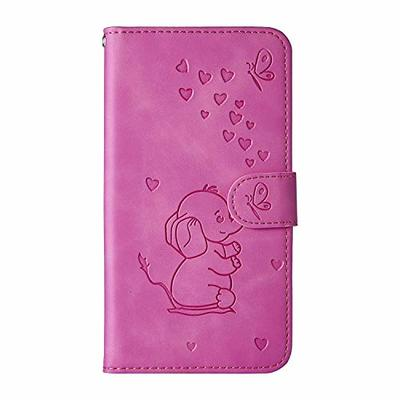 Samsung Galaxy S8 Case, Flip Shockproof PU Leather Wallet Cover Elephant & Butterfly with Stand Magnetic Holder TPU Gel Bumper Folio Slim Fit Protective Phone Case for Samsung Galaxy S8 Purple