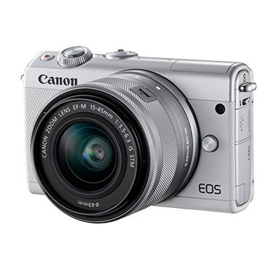 Canon EOS M100 Digital Camera with EF-M 15-45 mm – White