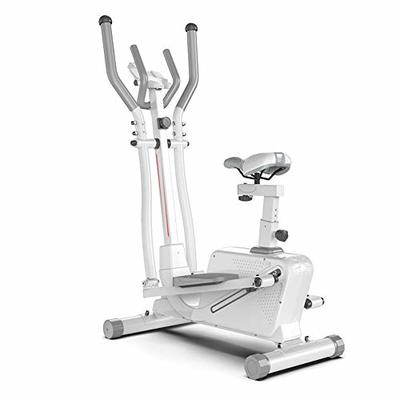 ZAIHW 2-in-1 Dual-Action Air Elliptical & Bike | Adjustable Seat | Adjustable Tension | Track Your Progress