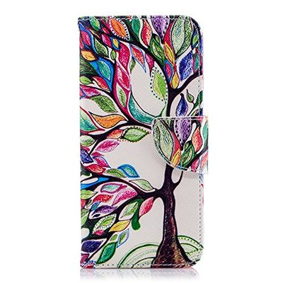 Samsung Galaxy J6 Case Leather, Shockproof PU Leather Notebook Wallet Case with Kickstand Function Card Holder and ID Slot Slim Flip Protective Skin Cover for Samsung Galaxy J6 The tree of life