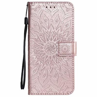 Thoankj Samsung Galaxy A70 Case 2019, PU Leather Flip Notebook Wallet Phone Case Sunflower with Magnetic Stand Card Holder Slot Folio Soft TPU Bumper Protective Cover for Samsung Galaxy A70 Rose Gold