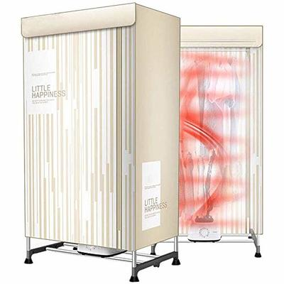 TQMB Electric Portable Clothes Dryer Indoor Drying Rack 850W 2-Tier Folding Warm Air Drying Wardrobe Laundry Clothing Heater Dryers for Home & Dorms
