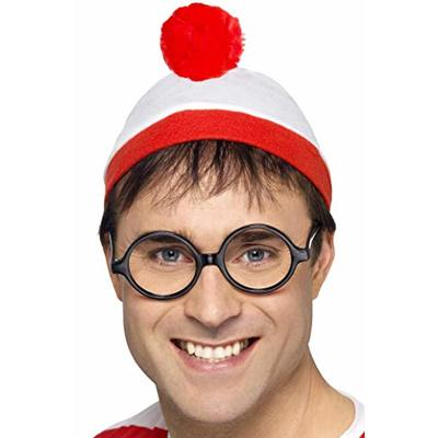 Smiffys Where's Wally? Instant Kit, Hat & Glasses, One Size, 34589