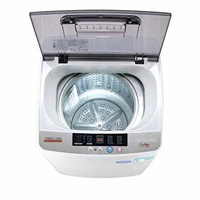 Automatic Washing Machine Small Household Washing Machine Home Dryer Capacity 5.2kg (Color : Silver, Size : 56.6×47.1x78cm)