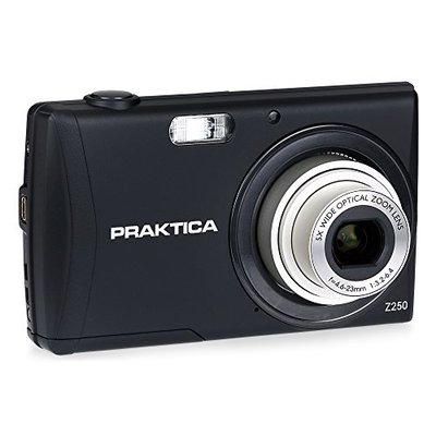 Praktica Luxmedia Z250 Digital Compact Camera – Black (20 MP,5x Optical Zoom)