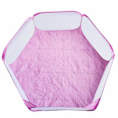 Portable Small Animal Playpen Breathable Pet Cage Tent Pop-Up Exercise Fence Transparent Yard Fences Folding Play Pen for Guinea Pig, Rabbits, Hamster, Chinchillas and Hedgehogs