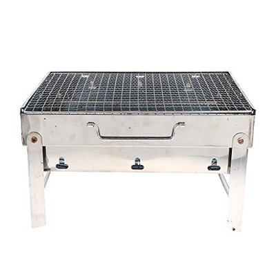FLAMEER Party Griller Stainless Steel Charcoal Barbecue Grill Portable BBQ Kebab Satay Yakitori Grill skewer Outdoor Cooking Utensil