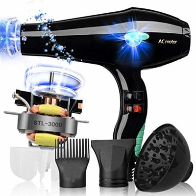 3000W Salon Hair Dryer Professional Negative Ion Blow Dryers,2 Speed 3 Heat Settings,with Collecting Nozzle+Diffuser+Comb,Constant Temperature Hair Care,for Hair Salon ?Unisex