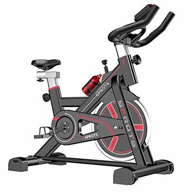 WADSYS Indoor Cycling Exercise Bike, Direct Belt Driven 6Kg Flywheel, Magnetic Resistance, 3-Piece Crank, For Home Cardio Gym With Comfortabe Seat Cushion, Resistance Adjustmentl,Black,B