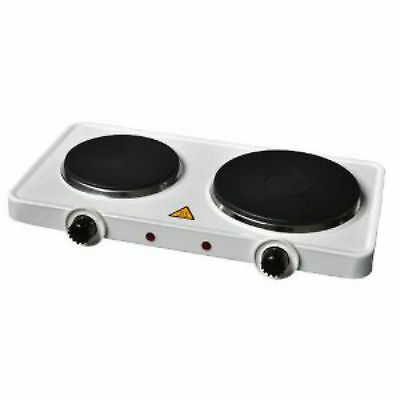 HOT COOKING PLATE DOUBLE PORTABLE ELECTRIC COOKING HOB COOKER STOVE 15OOw NEW