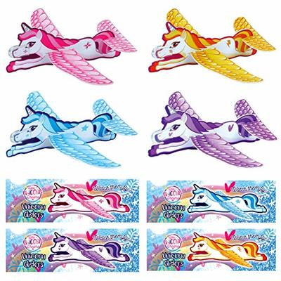 Henbrandt 24 x Unicorn Gliders Perfect For Kids/Girls Party Loot Goody Bags – Mix Of Colours