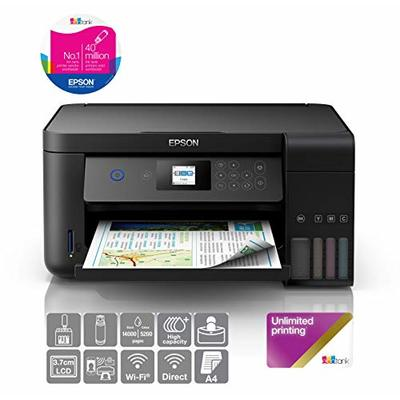 Epson EcoTank ET-2750B A4 Print/Scan/Copy Wi-Fi Printer, Black + 2 Years Unlimited Printing Card