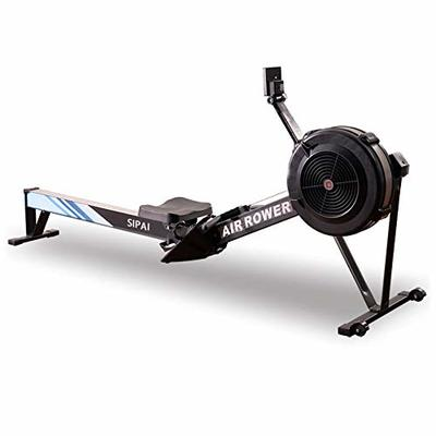 Home rowing machine Home Rowing Machine, 8-level Wind Resistance Adjustable 7kg Flywheel Fitness Cardio Advanced Driving Belt System, 12-Month Warranty, White (Color : Black)
