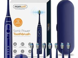 Electric Toothbrush with Travel Case,Mornwell Sonic Power Whitening Toothbrush with 40,000 VPM Motor  8 Brush Heads   2 Mins Smart Timer Wireless Inductive Charging   IPX7 Waterproof,Blue