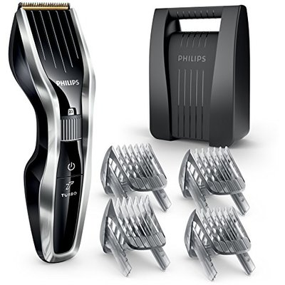 Philips Series 5000 Hair Clipper with Titanium Blades including Beard and Hair Combs – HC5450/83