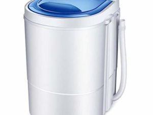 DAND Portable Washing Machine,Integrated Washing Machine,Single Tub Wash And Spin Dryer,Compact 2.2kg Capacity Wash,260 W,Suitable For Camping, Apartments,Dorms,RV's,and More,White
