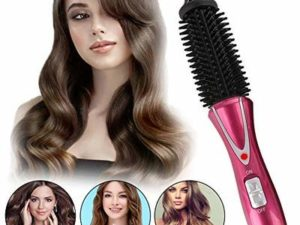 Curling Iron Brush, Hair Curler Hot Brush Professional Anti-Scald Instant Heat Up Curling Wands Suitable Heated Styler Brush For Long/Short Hair (UK Plug?110-240V?)