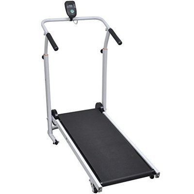 Anself Mini Treadmill Running Machine Folding 93 x 36 cm Black