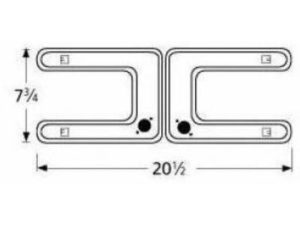 Music City Metals 79402 Zinc Plated Steel Twin Venturi Replacement for Select Fiesta Gas Grill Models