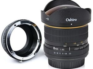 Oshiro 8mm f/3.5 LD UNC AL Wide Angle Fisheye Lens for Olympus PEN E-M1, E-M5, E-M10, E-PL7, E-P5, E-PL5, E-PM2, E-P1, E-P2, E-PL1, E-PL1s, PL2 Micro Four Thirds Mirrorless Digital Cameras
