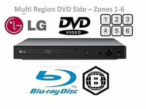 LG BP250 Blu-Ray and HDMI DVD Player (Multi Region DVD Side Only)