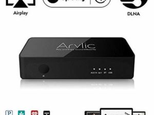 WiFi & Bluetooth Audio Receiver | Arylic S10 | Airplay DLNA Wireless Streaming | Multi-Room Sync | 24bit 192kHz Decoding | Spotify Connect, Tidal, Deezer, TuneInRadio Supported | RJ45 LAN Connection