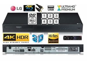 LG UBK80 SMART 4K UHD (Ultra High Definition) Blu-Ray /DVD/CD player with MULTIREGION for DVD / HDR /3D- With Hi-Res Audio