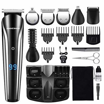 MIGICSHOW Hair Clippers Beard Trimmer for Men Rechargeable Cordless Professional Hair Clippers Kits with Precision Electric Shaver Body Groomer Nose/Ear Trimmer with Washable Attachments 11 in 1