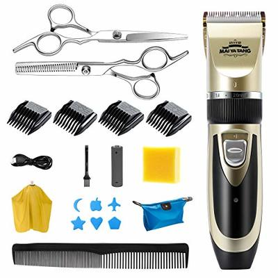 Homealexa Hair Trimmer Set, Rechargeable Men's Hair Clipper, 19-Piece Professional Electric Beard Trimmer Men's Hair Trimmer with LED and USB for Men's Children and Salons
