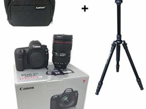 5D Mark IV DSLR Camera + EF 24-105mm f/4L IS II USM lens + KamKorda Camera Bag + Advanced Camera Tripod