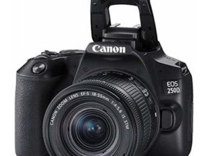EOS 250D DSLR Camera – Black with Canon EF-s 18-55mm f/4-5.6 IS STM Lens