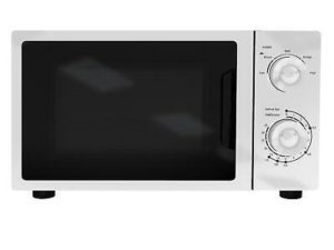 SIA MTM20WH 20L Freestanding 700W White Mechanical Timer Microwave Oven