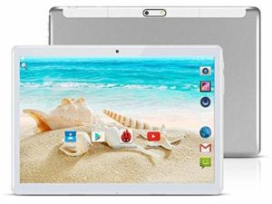 TAOERA 10 inch Android 8.1 Tablet Unlocked Pad with Dual SIM Card Slot 2.5D Curved Glass Touch Screen 4GB RAM 64GB ROM 3G Phablet Built-in Bluetooth WiFi GPS Tablets (Silver)