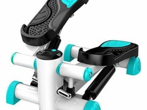 AYES Mini Stepper Indoor Fitness Stepper Stair Stepper Thigh Full Body Exercise Stepper Stovepipe Formation Machine (Cyan)