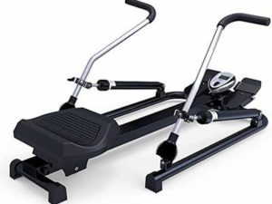 NXX Rowing Machines Multifunctional Folding Double Hydraulic Lever 6-Speed Resistance Adjustment (Color : Black)