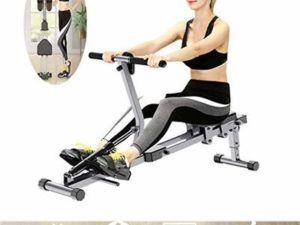 HETAO Indoor Foldable Rowing Machine, Adjustable Male And Female Weight Loss Muscle Training Water Rowing Machine, Foldable Fitness Equipment