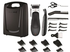 Remington Stylist Hair Clippers, Cordless Use with 8 Comb Lengths and Detail Trimmer, 25 Piece Grooming Kit – HC366
