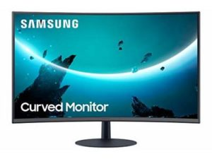 Samsung C32T550 32″ FHD, 75Hz Curved Gaming Monitor, 3-sided bezelless, Speakers