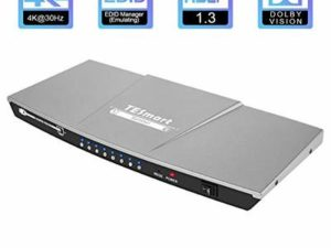 HDMI Splitter 1 in 8 out,TESmart HDMI Splitter 8 Way Support 4K@30Hz and HDR Splitter Box 1 in 8 out HDMI Distribution Amplifier Switcher for Xbox One PS4 Pro Blu-ray Player HD TV Projector?etc