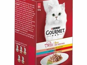 Gourmet Mon Petit Duo Fish and Meat Select Cat Food, 6 x 50g