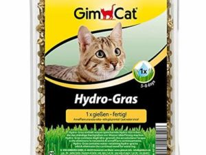 GimCat Hydro-Grass – Fresh cat grass harvested from certified open fields, ready in only 5 to 8 days – 1 bowl (1 x 150 g)