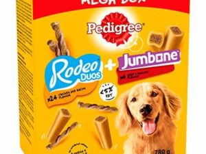 Pedigree Mega Box – Medium Dog Treats with Rodeo Duos and Jumbone chews 780g