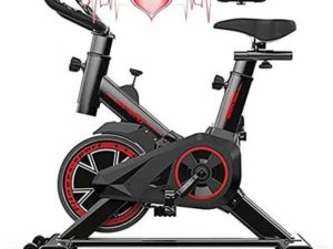 Exercise Bike Cycles Exercise Machines Exercise Bike for Home Adjustable Handlebars & Seat Chromed Flywheel 6kg Monitor Reads Speed, Distance, Time, Calories with LCD Display JXM-01