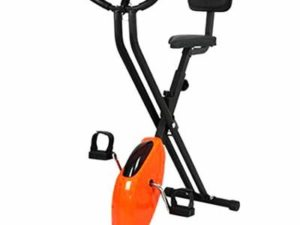 LLUO Foldable Indoor Exercise Bike Workout Cycling Bike Adjustable Stationary Bicycle for Sport Home Gym (No Backrest)