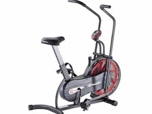 inSPORTline Air Resistance Exercise Bike Fitness Home Workout, Gym Equipment Perfect for Fitness Bodybuilding with LCD Monitor
